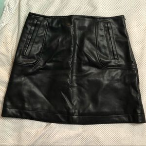 Faux leather skirt - never been worn